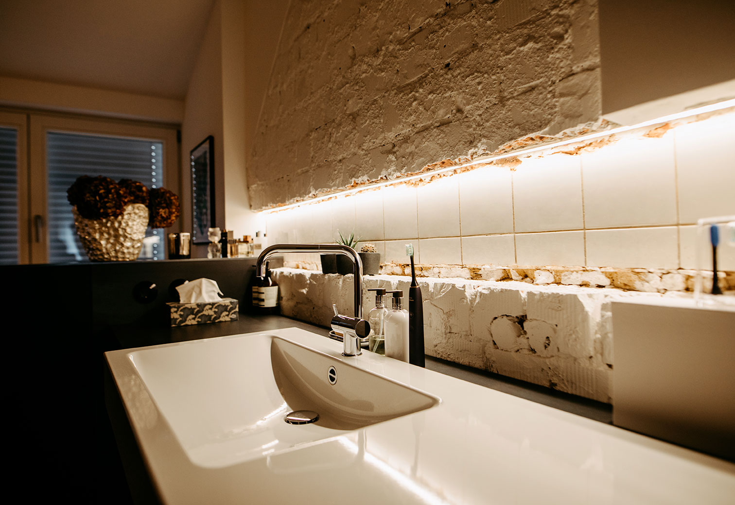 Installation Beleuchtung Badezimmer