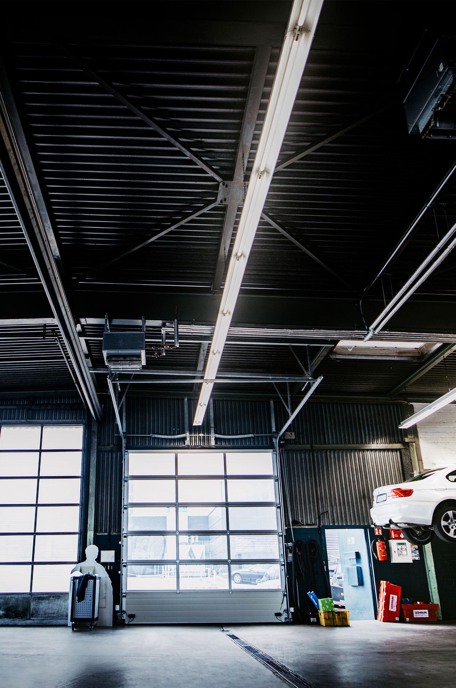 Werkstatt Beleuchtung LED Beleuchtungsinstallation