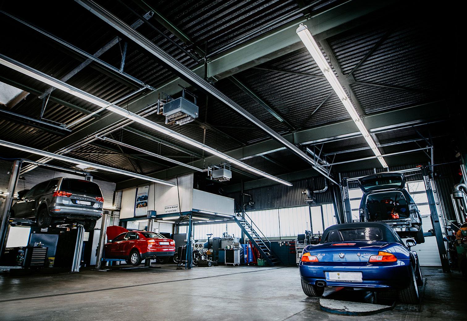 Werkstattbeleuchtung Deckenbeleuchtung Werkstatt