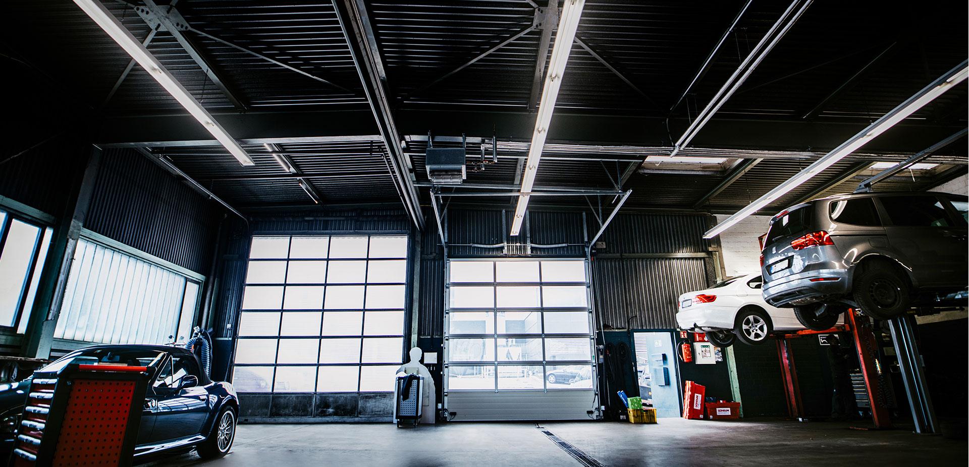 Report Deckenbeleuchtung Autowerkstatt
